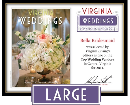 Official Top Wedding Vendors 2014 Plaque, L (19.75