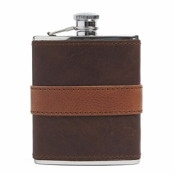 Leather-Wrapped Flask from Moore & Giles