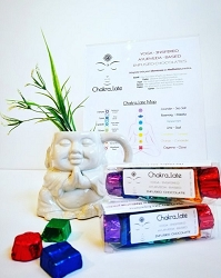 Clean Conscience Chakra_late, Yoga-Inspired & Ayurveda-Based Infused Chocolates