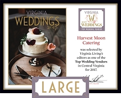 Official Top Wedding Vendors 2017 Plaque, L (19.75
