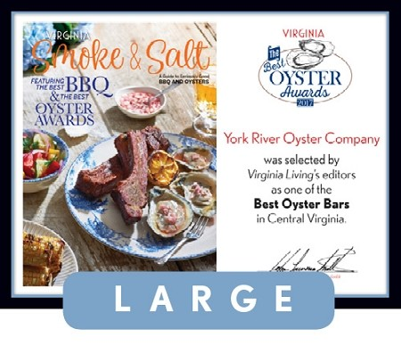 Official Best Oyster Awards 2017 Winner's Plaque, L (19.75