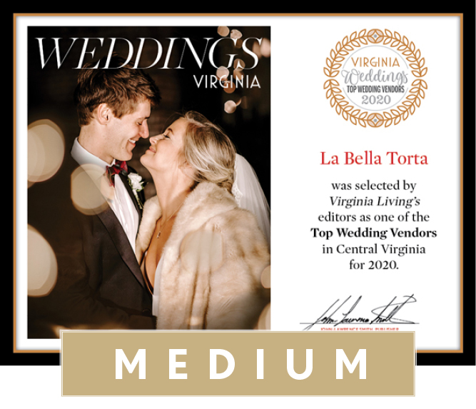 Official Top Wedding Vendors 2020 Plaque, M (13