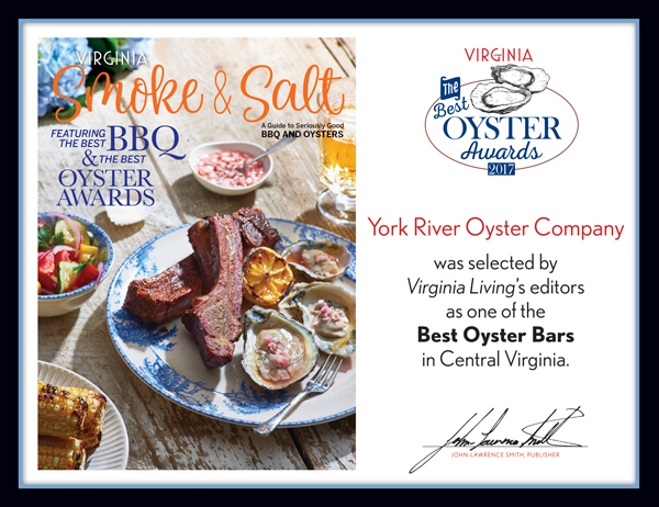 Best Oyster Awards 2017