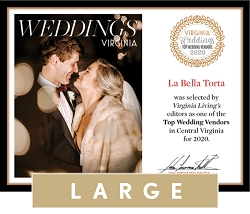 Official Top Wedding Vendors 2020 Plaque, L (19.75