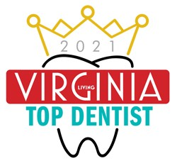 Top Dentist 2021 Winner's Window Decal (3.5