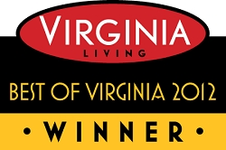 Best of Virginia 2012 Winner's Window Decal (5