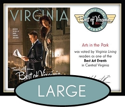 Official Best of Virginia 2014 Winner's Plaque, L (19.75