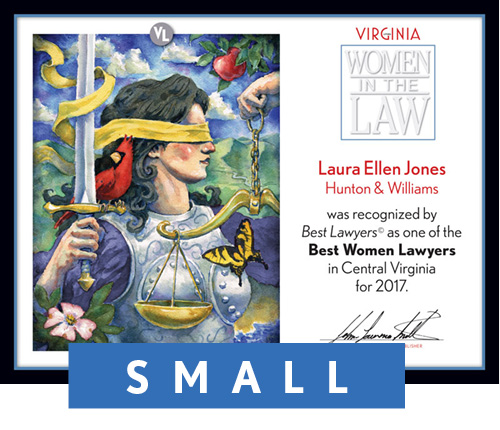Official Best Women Lawyers 2017 Winner's Plaque, S (9.75